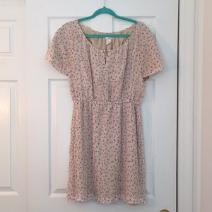 JCrew floral print dress silk lined size 6